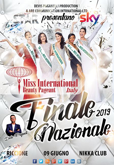 Le 32 Finaliste Nazionali Italiane 2019