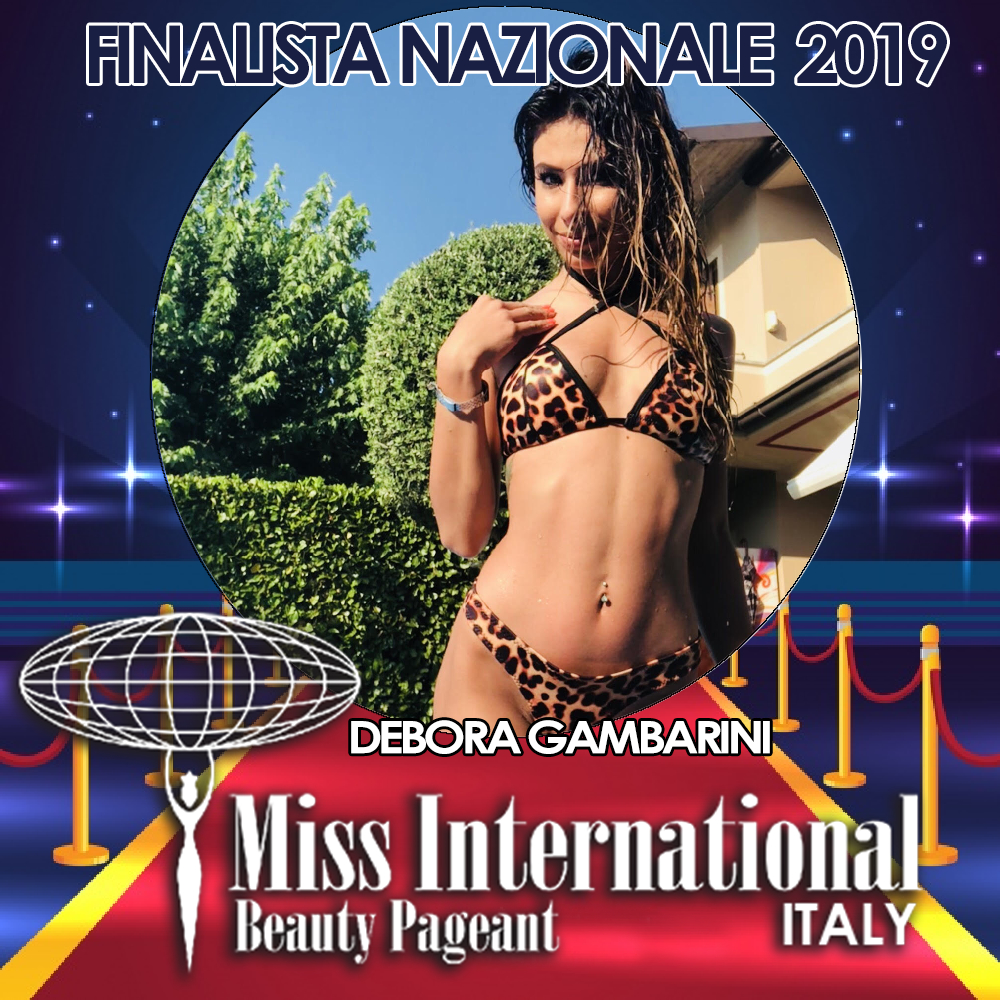 candidatas a miss international italy 2019. final: 9 june. Debora-gambarini-MI19