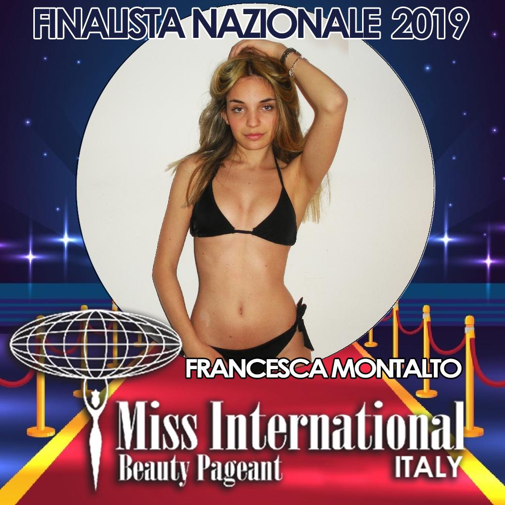 candidatas a miss international italy 2019. final: 9 june. - Página 2 Francesca-Montalto-