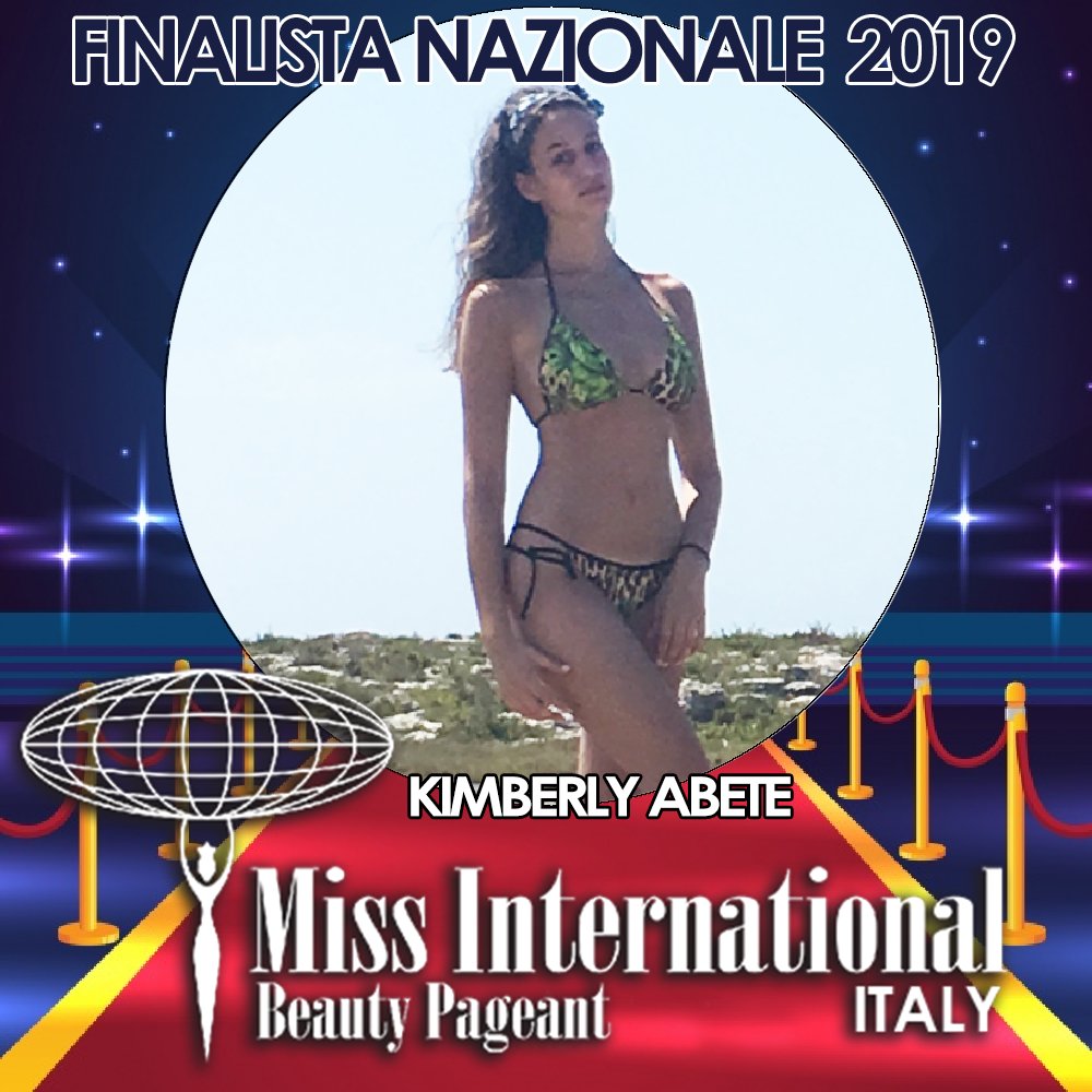 candidatas a miss international italy 2019. final: 9 june. Kimberly-Abete.PNG