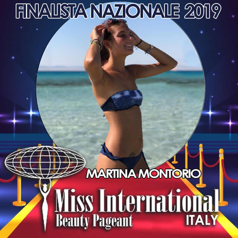 candidatas a miss international italy 2019. final: 9 june. Martina-Montorio