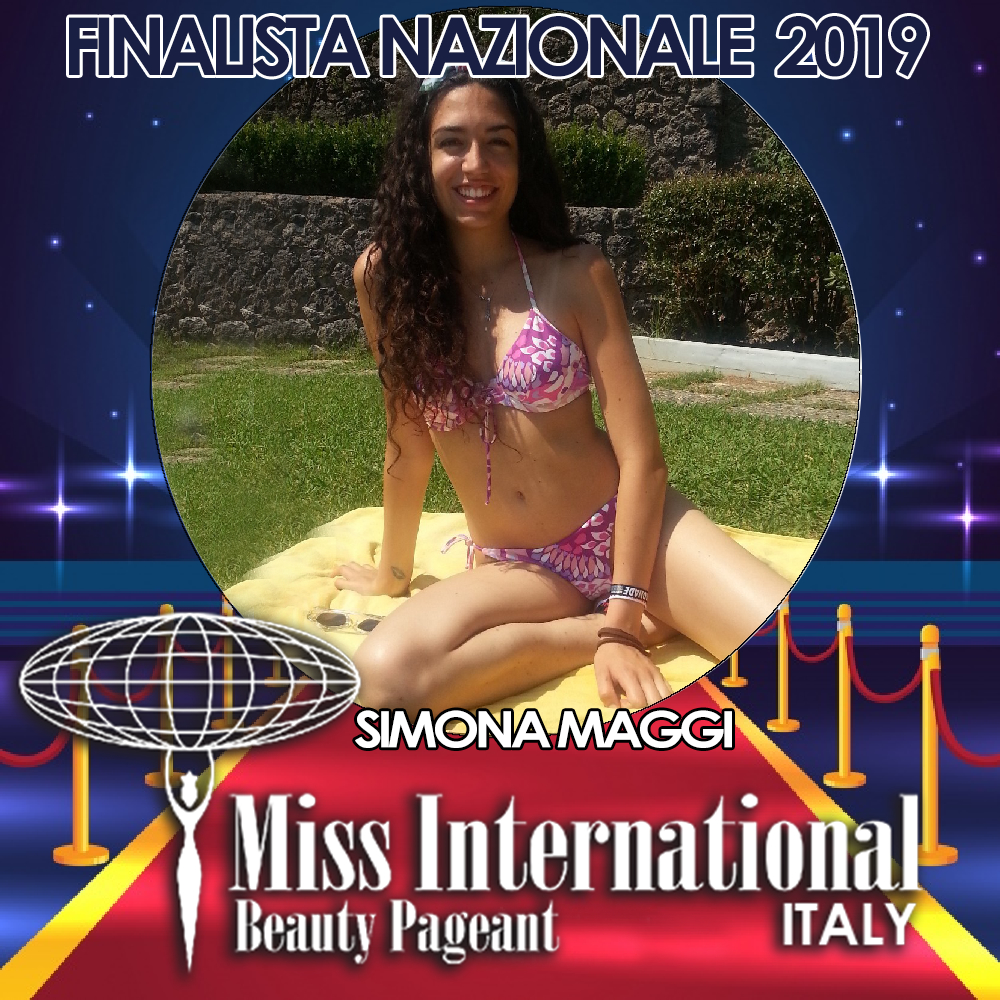 candidatas a miss international italy 2019. final: 9 june. Simona-Maggi-