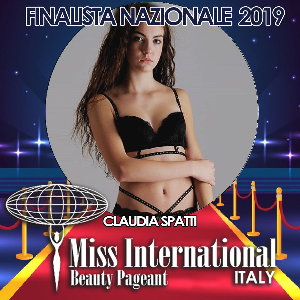 candidatas a miss international italy 2019. final: 9 june. Claudia-spatti