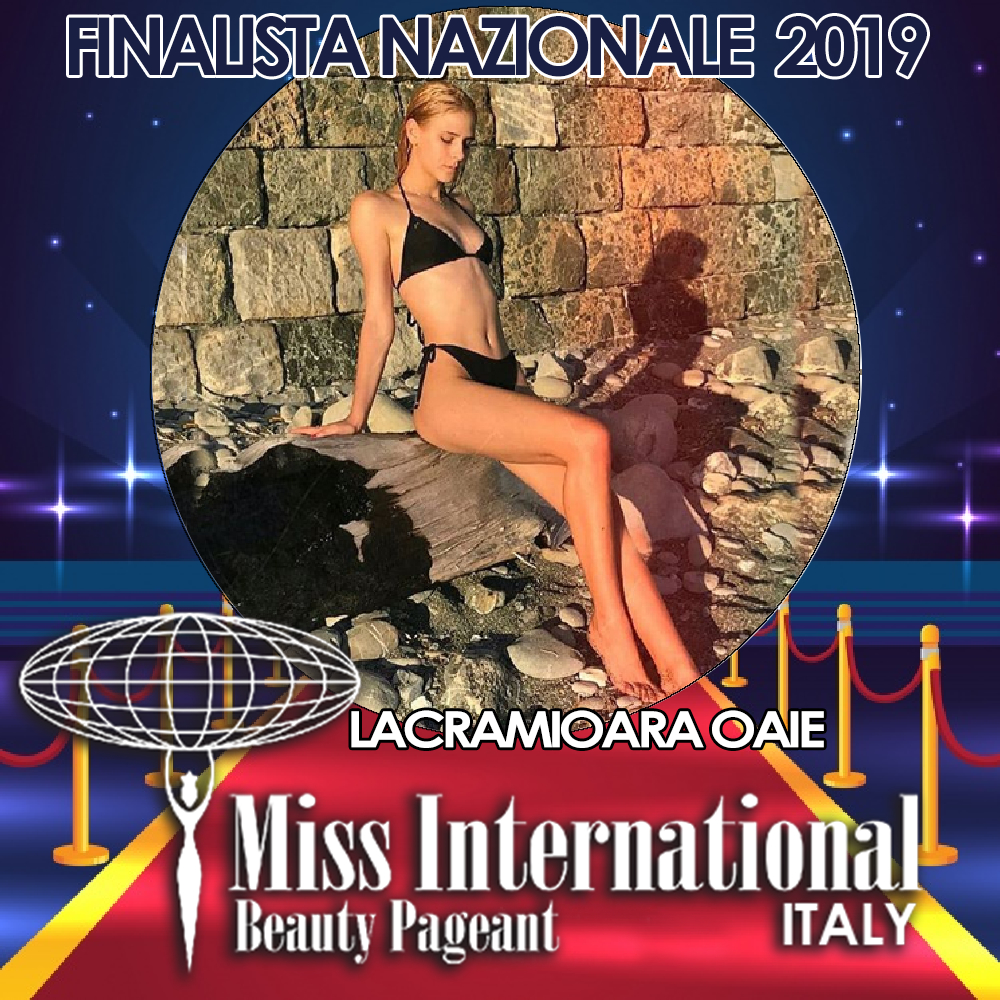 candidatas a miss international italy 2019. final: 9 june. Lacri