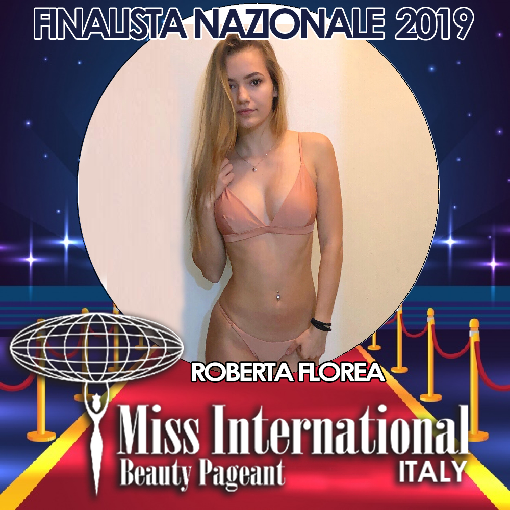 candidatas a miss international italy 2019. final: 9 june. Roberta-florea